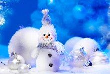 Снеговик с Новым годом